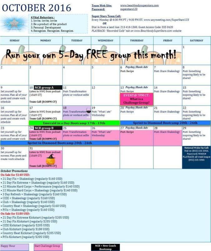 team calendar training cycle